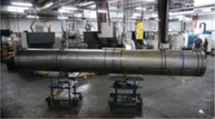 Wire EDM split tube: Diameter 27 inches, Length 16.5 feet